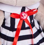 Зайка Ми в морском платье в полоску (малая)