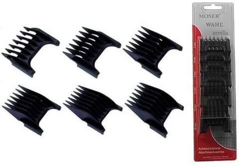Набор из 6 пластиковых насадок Moser к машинкам 1881, 1854, 1871, 1230, 1233