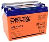 Аккумулятор Delta GEL 12-75  ( 12V 75Ah / 12В 75Ач ) - фотография