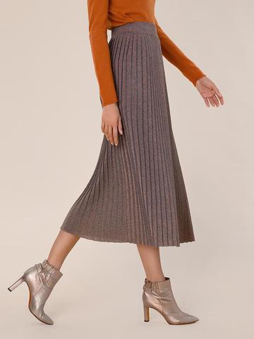 Женская юбка терракотового цвета из вискозы - фото 3