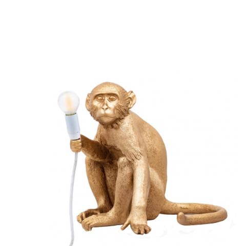 Настольный светильник копия Monkey by Seletti (золотой)