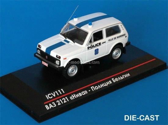 Lada VAZ 2107 Ukraine Police 1:43 Ist Miniatur Polizei Modellauto PM48