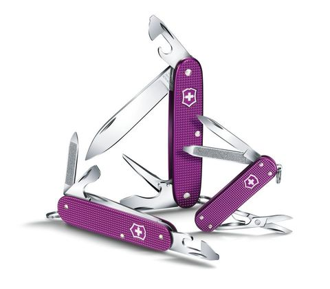 Нож Victorinox Pioneer Alox, 93 мм, 8 функций, фиолетовый