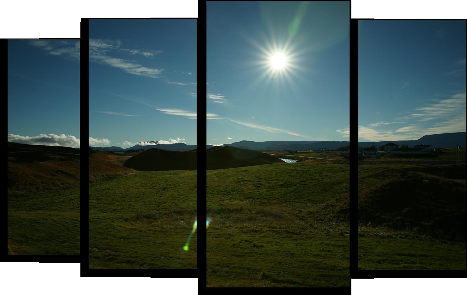 """Природа Модульная картина """"Лучезарное утро"""" М412.png"""
