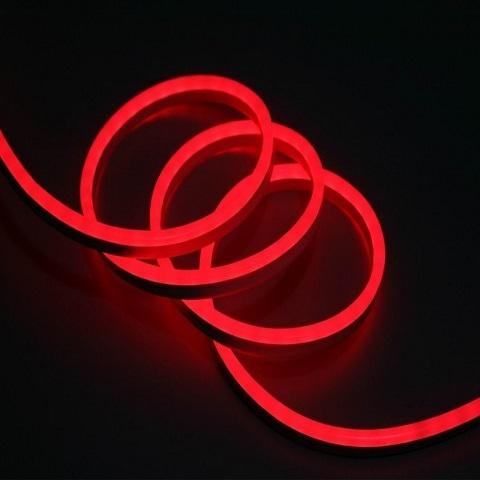 Гибкий неон Мини Красный, SMD2835, 8х16 мм, 220В