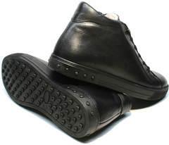 Зимние ботинки на толстой подошвемужские кожаные Ridge 6051 X-16Black