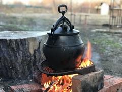 Комплект: печь + афганский казан черный 15л