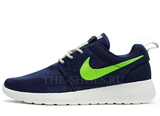 Кроссовки Женские Nike Roshe Run Material DK Blue Green White