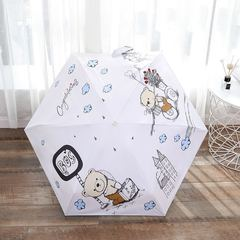 Зонт миниатюрный, ультратонкий с защитой от УФ, 6 спиц, фото принт 03