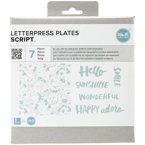 Формы для леттерпрессинга Lifestyle Letterpress Plates - Script