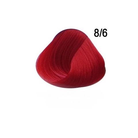 Перманентная крем-краска для волос Ollin 8/6 светло русый красный