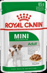 Пауч для собак мелких пород, Royal Canin Mini Adult, для поддержания прекрасной физической формы