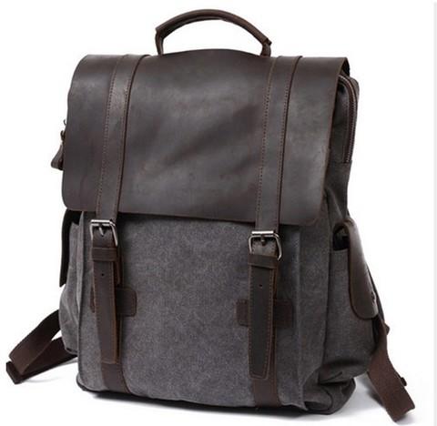 Рюкзак из кожи и ткани Bug 065 Gray