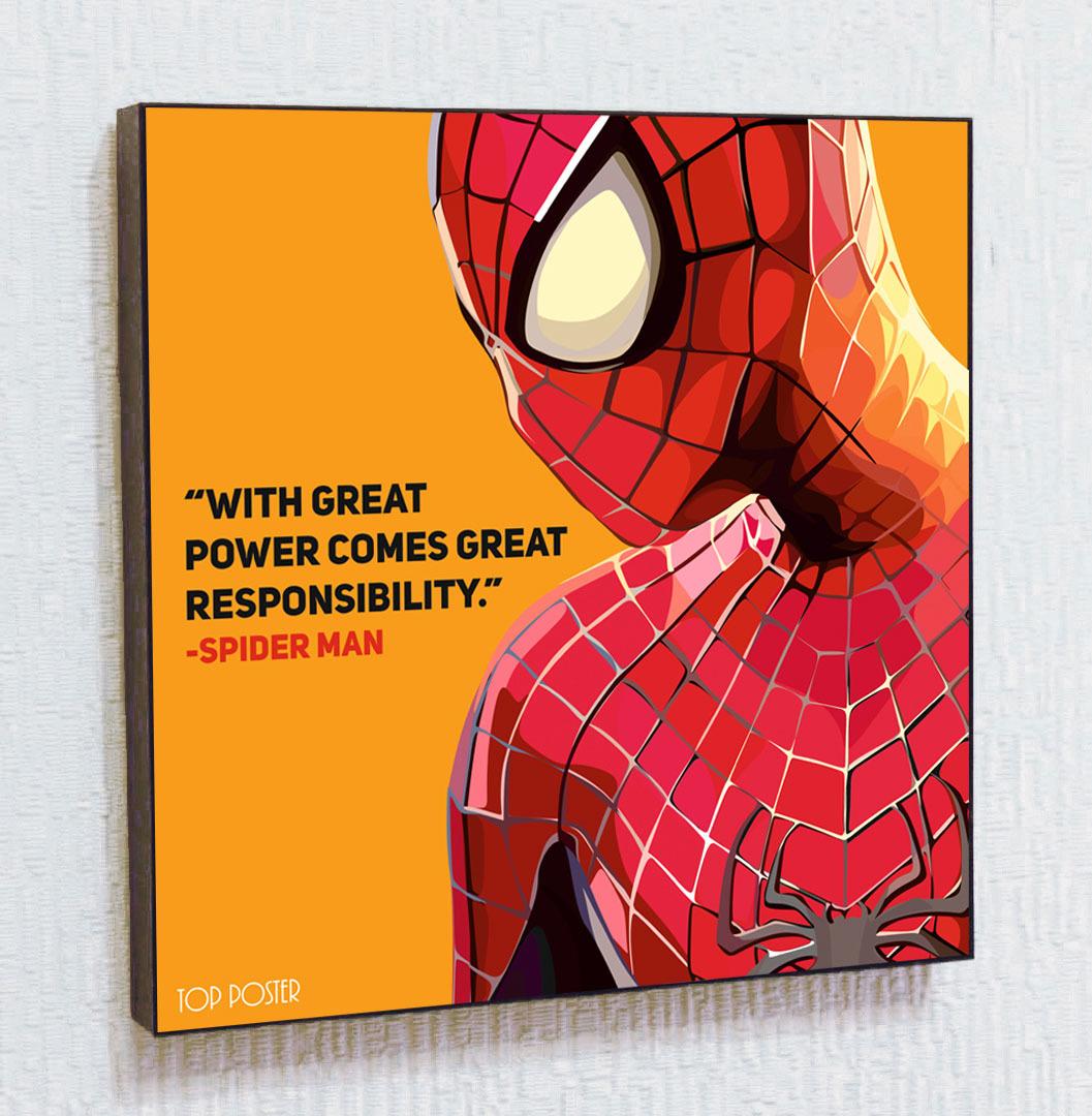 купить постер ПОП-АРТ Человек Паук (Spider Man)