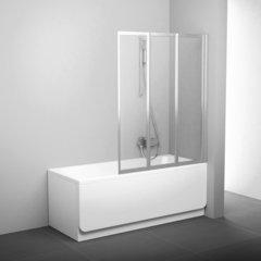 Шторка для ванны Ravak Supernova VS3 100 белая Rain