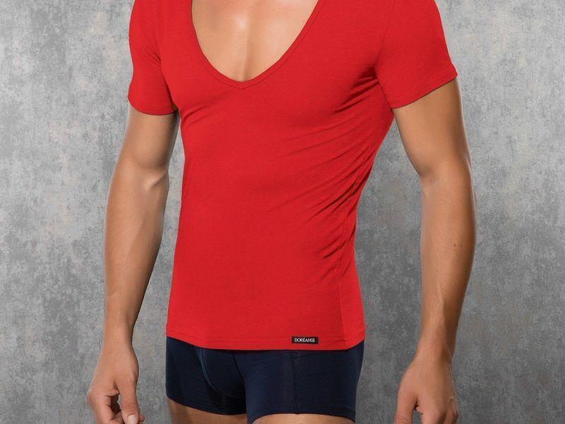 Мужская футболка красная Doreanse 2820