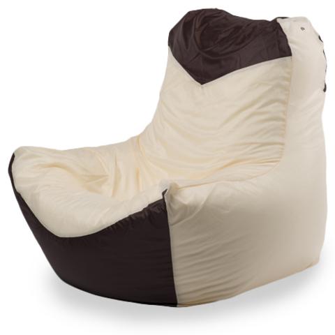 Внешний чехол Кресло-мешок комфорт  145x90x90, Оксфорд Бежевый и коричневый