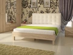 Кровать 93.01 (ель), спинка СМ №1 классик белая
