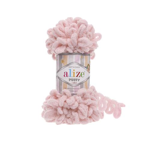 Купить Пряжа Alize Puffy Код цвета 161 Пудра | Интернет-магазин пряжи «Пряха»
