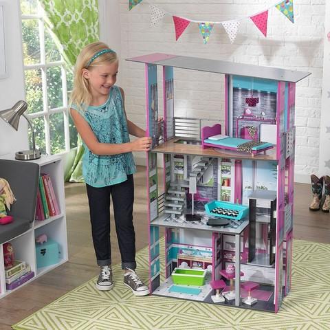 """Кукольный дом для Барби """"Гламурный"""" с мебелью"""
