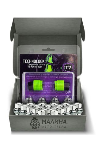Готовый набор из колёсных гаек М12x1.5 и комплекта секреткок TECHNOLOCK T2