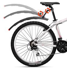 Телескопические крылья для горного велосипеда с фонарем