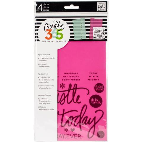 Закладки пластиковые для ежедневника Create 365 Planner Dashboards -  -3 шт.