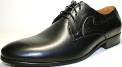 Мужские туфли дерби, черные, классика, кожаные Икос