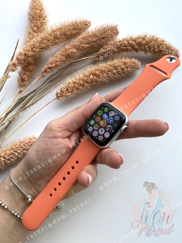 Ремешок Apple watch 42/44mm Sport Band /orange clementine/ спелый клементин