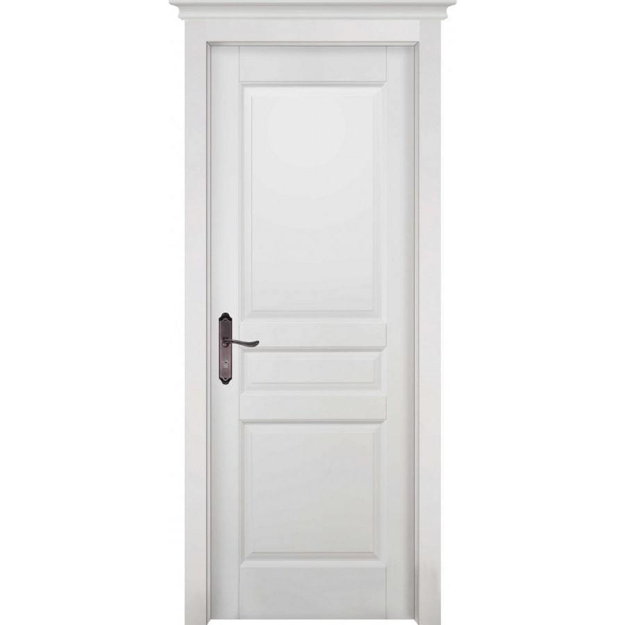 Двери из массива дерева Межкомнатная дверь массив ольхи ОКА Валенсия белая эмаль глухая venecia-belaya-min.jpg