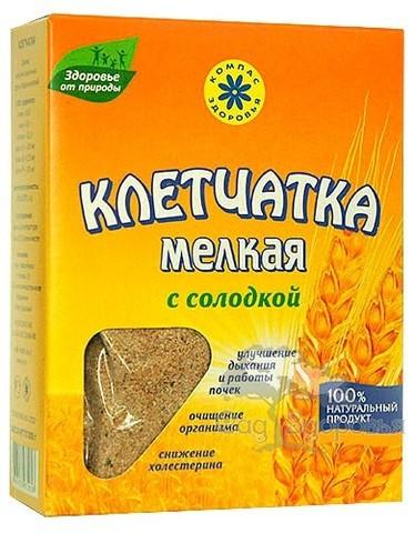 Клетчатка пшеничная мелкая с солодкой, 200 гр. (Компас Здоровья)