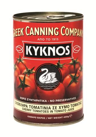 Томаты Черри целые в собственном соку Kyknos 400 гр