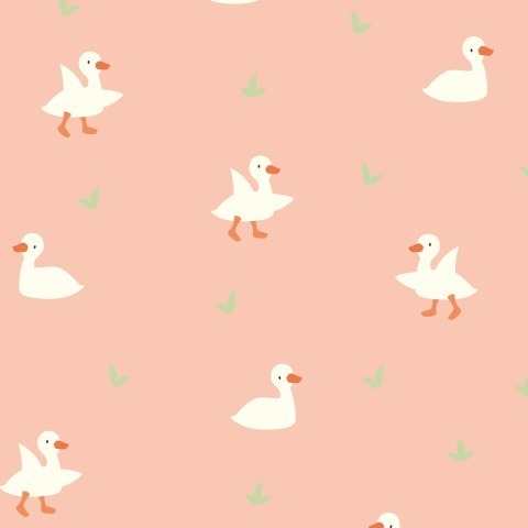 Гусята на розовом фоне