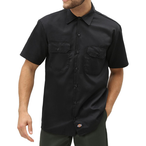 Рубашка DICKIES Short Sleeve Work Shirt (Black)