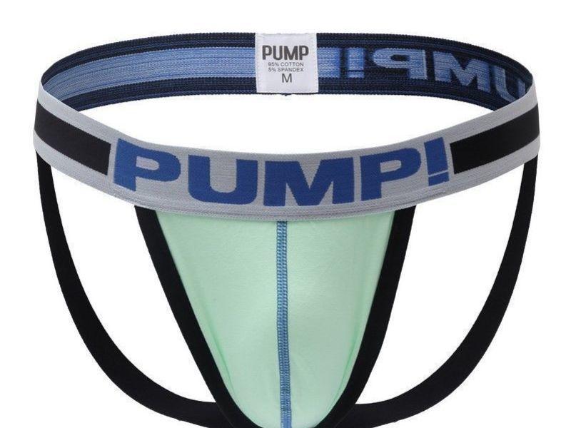 Мужские трусы джоки светло-салатовые Pump White Mint H96