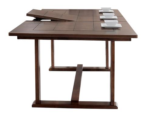 Прямоугольный обеденный стол Раздвижной из массива гевеи