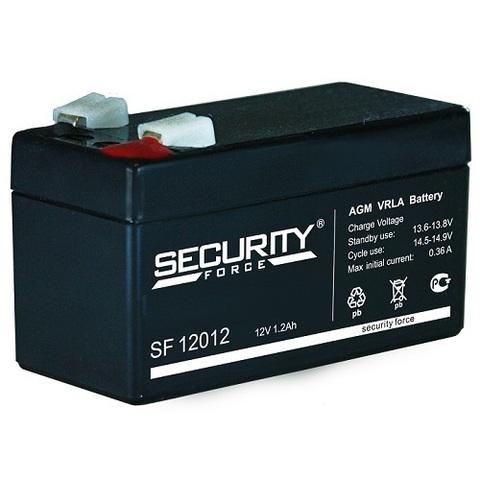 SF 12012 аккумулятор 12В/1,2Ач Security Force