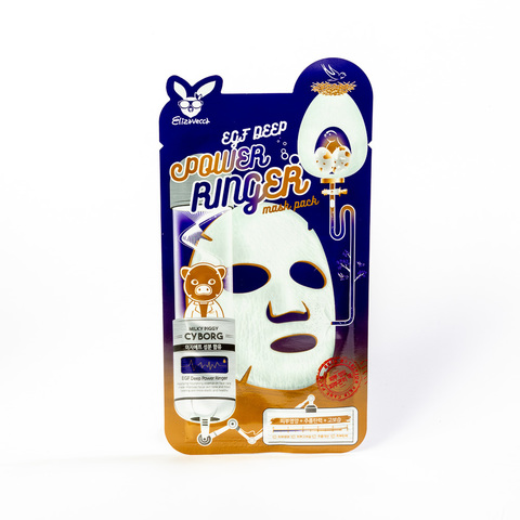 Тканевая маска для лица Elizavecca EGF Deep Power Ringer Mask Pack