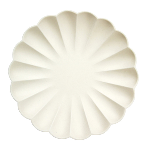 Тарелки кремовые