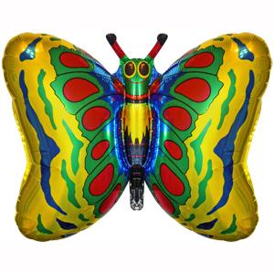 Фольгированный шар Бабочка золотая 58 X 89см