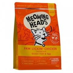 """Корм для взрослых кошек, MEOWING HEADS Paw Lickin' Chicken """"Куриное наслаждение"""", с курицей и рисом"""
