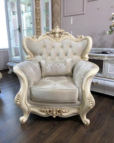 Кресло ДЖОКОНДА крем глянец