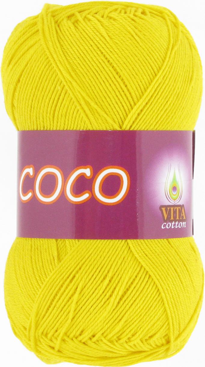 Пряжа Vita Coco 4320 ярко-желтый