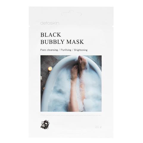 Черная пузырчатая маска для лица с экстрактом бамбукового древесного угля