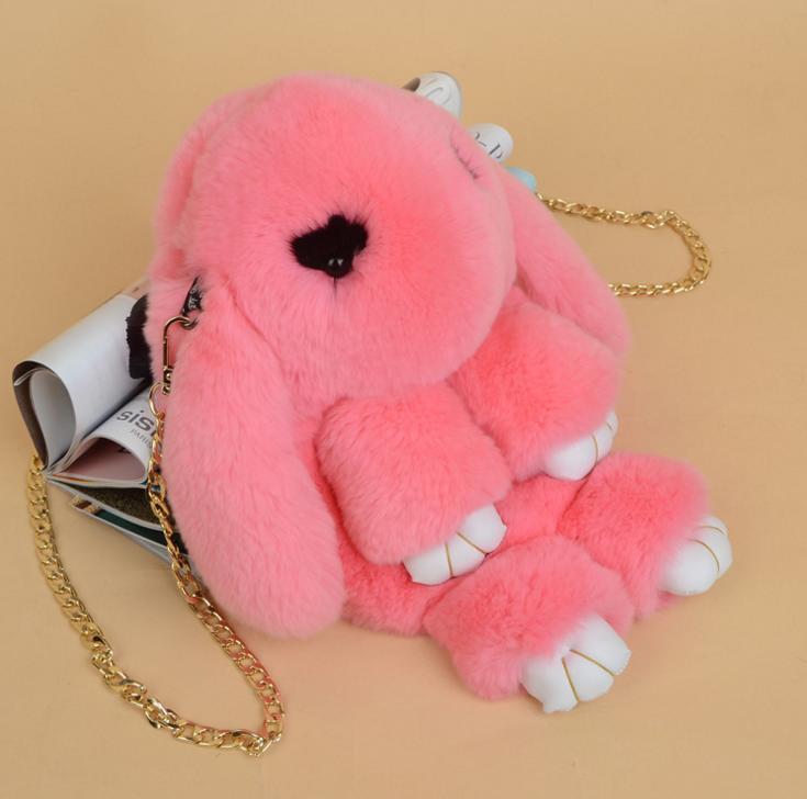 Розовый вариант цвета сумки кролик