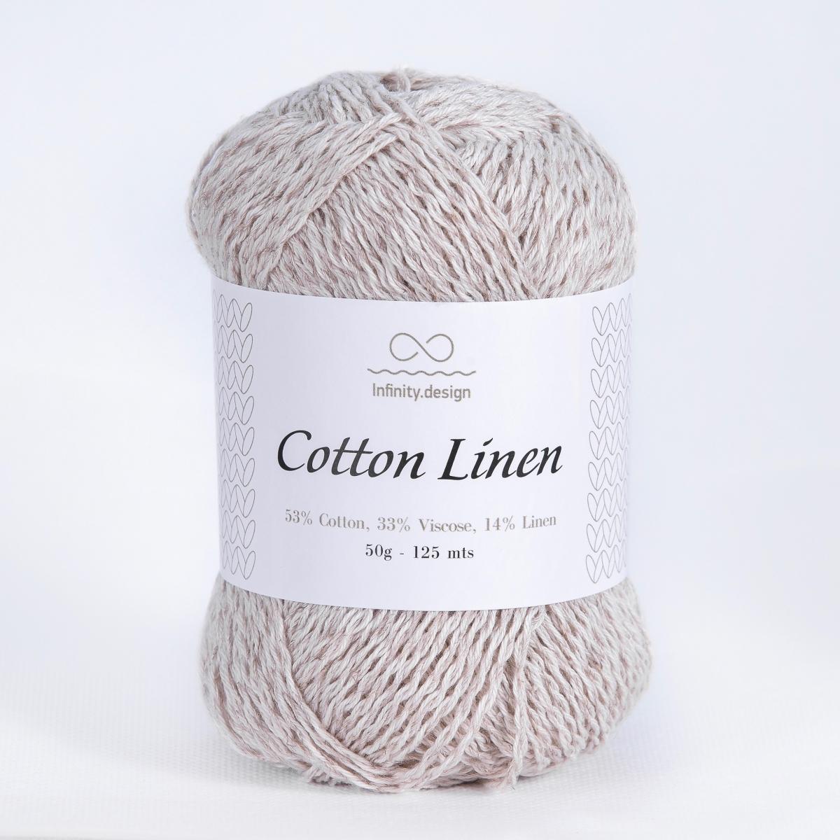 Пряжа Infinity Cotton Linen 1015 суровый