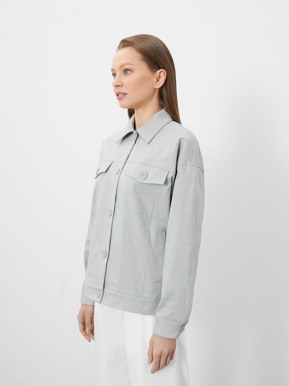 Куртка-тракер Сиэтл с карманами, Светло-серый