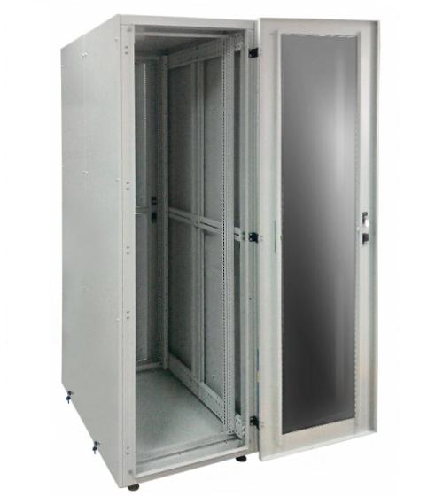 Заказать и купить Шкаф серверный 19 СрШ-24U-06-10-ДС со стеклянной дверью: цена в Москве от производителя