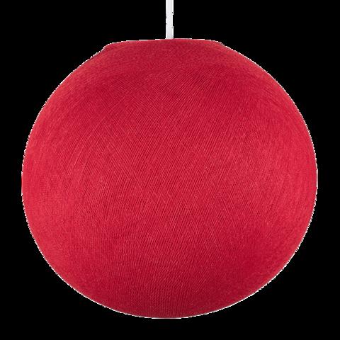 Хлопковый шар - подвес Красный