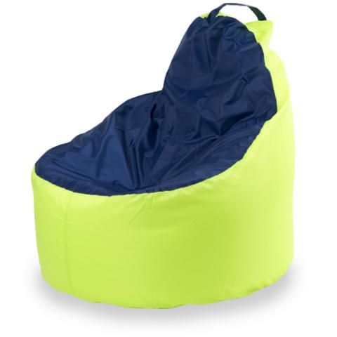 Внешний чехол Кресло-мешок комфорт  145x90x90, Оксфорд Лайм и синий
